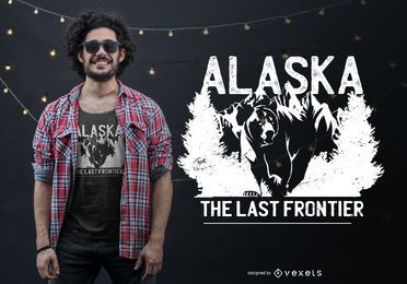 Design de camiseta com citações do urso do Alasca