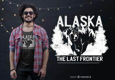 Projeto do t-shirt das citações do urso de Alaska