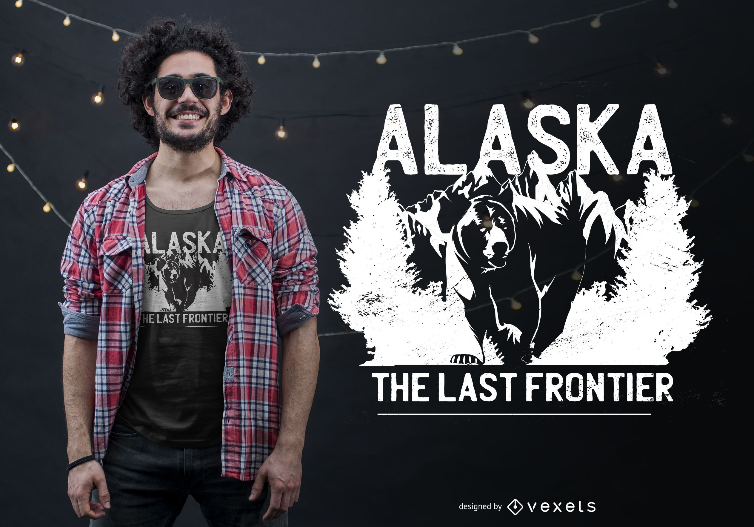 Alaska Bear Quote T-shirt Design