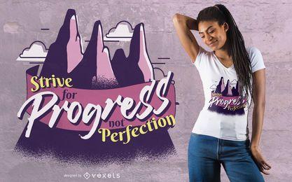 Lucha por el diseño de la camiseta de la cita del progreso