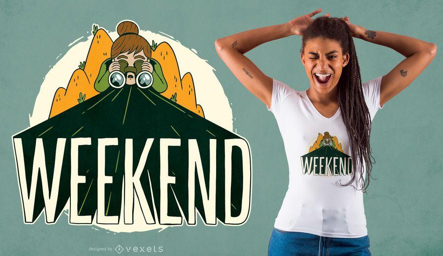 Weekend Camping T-shirt Design