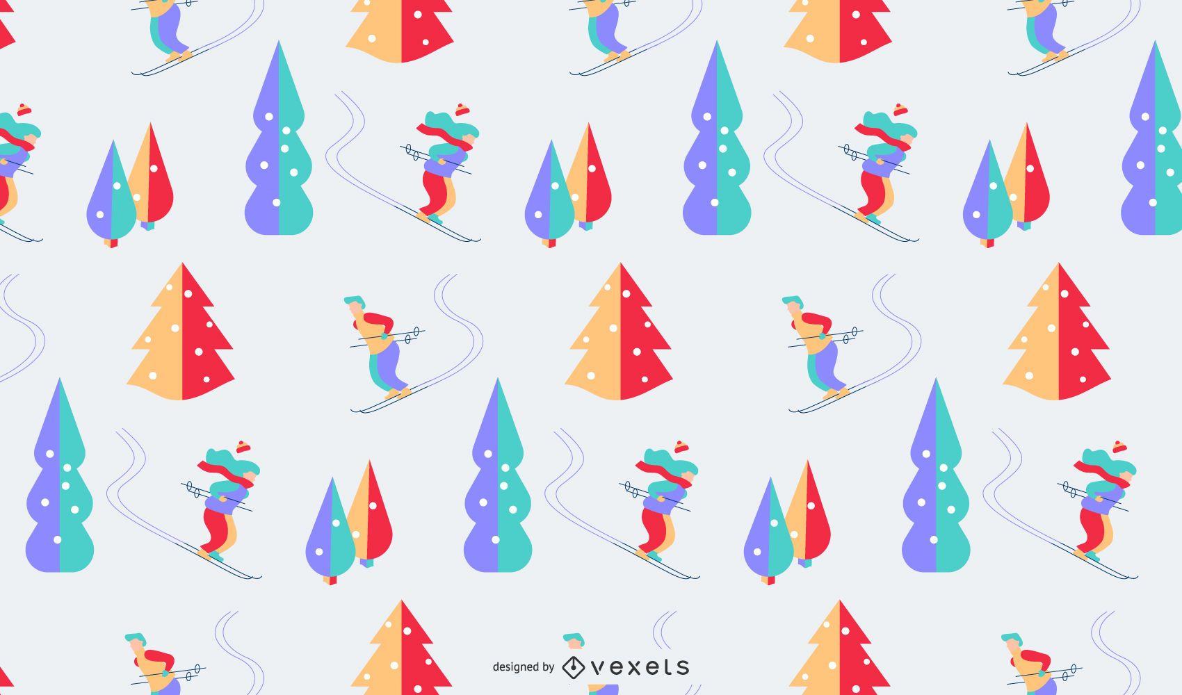 Diseño de patrón de colores de invierno