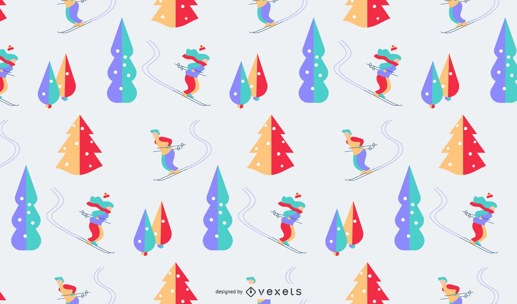 Winter colorful pattern design