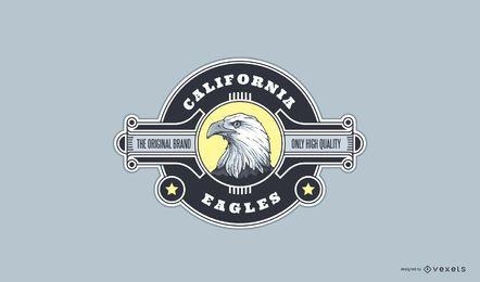 Design de logotipo de esporte de águia da Califórnia