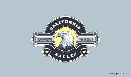 Kalifornien Eagle Sport Logo Design