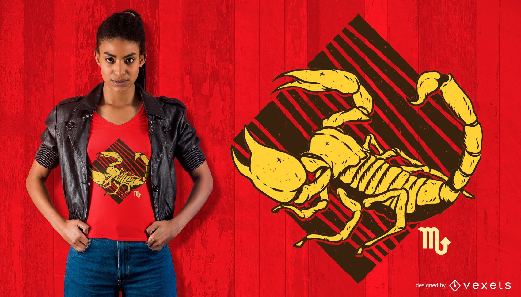 Diseño de camiseta del zodiaco escorpio