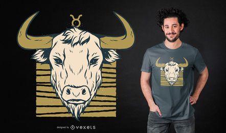 Diseño de camiseta del zodiaco Tauro