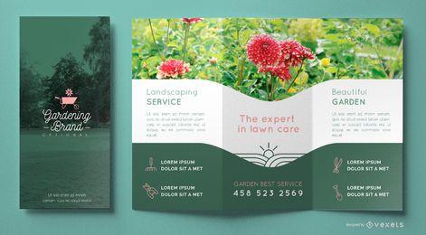 Plantilla de folleto comercial de jardinería