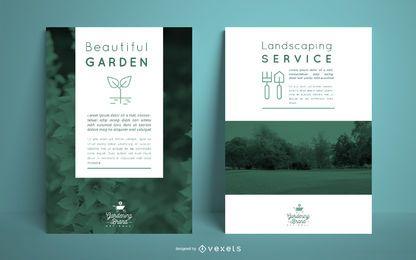 Modelo de pôster de jardinagem