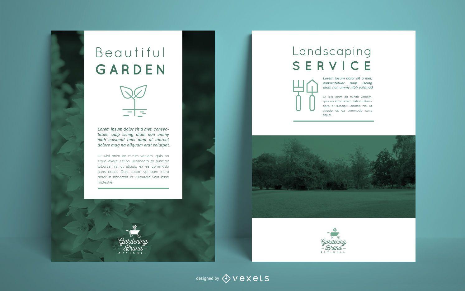 Gardening poster template