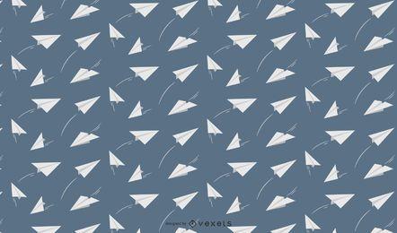 Design de padrão de aviões de papel