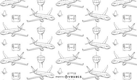 Airplanes travel pattern design