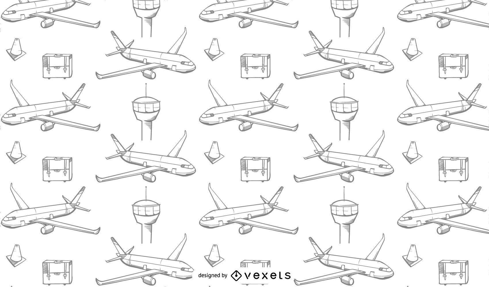 Diseño de patrón de viaje de aviones
