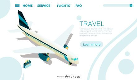 Modelo de página de aterrissagem de aeroporto
