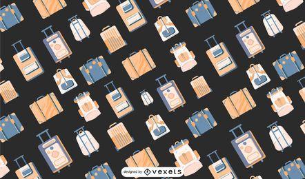 Desenho de padrão de bagagem