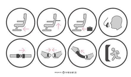 Aircraft Safety Indication Signage Set