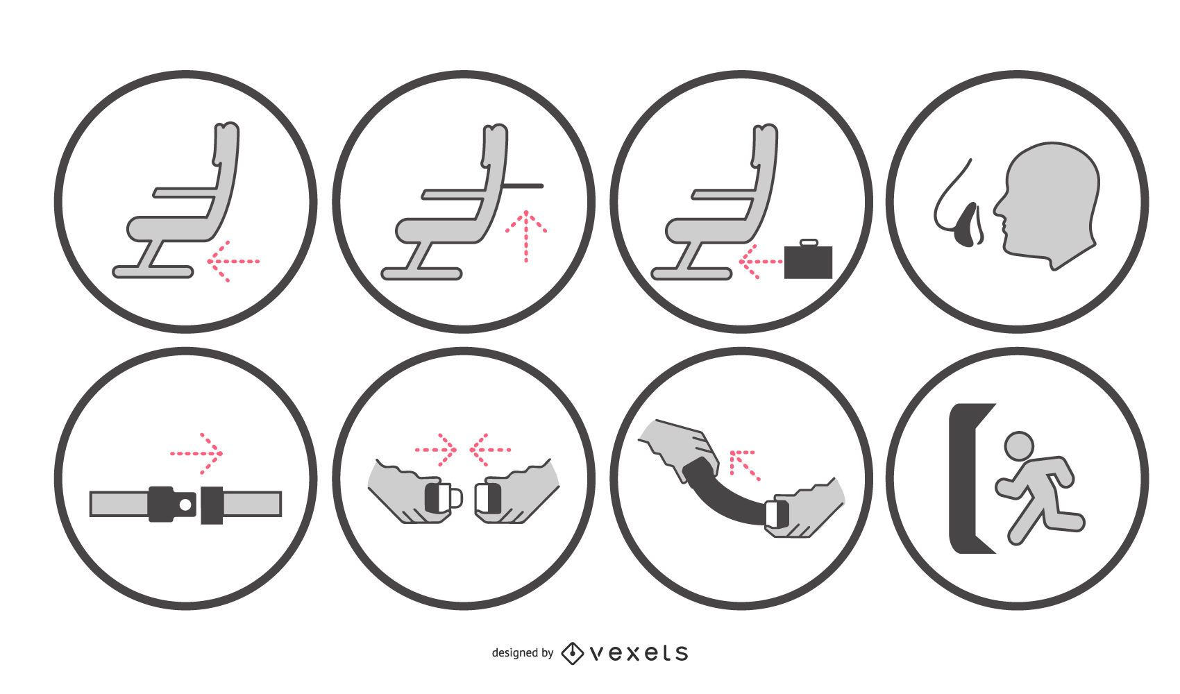 Conjunto de señalización de indicación de seguridad de aeronaves