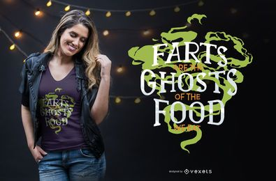 Furz-Geist-lustiger Zitat-T-Shirt Entwurf