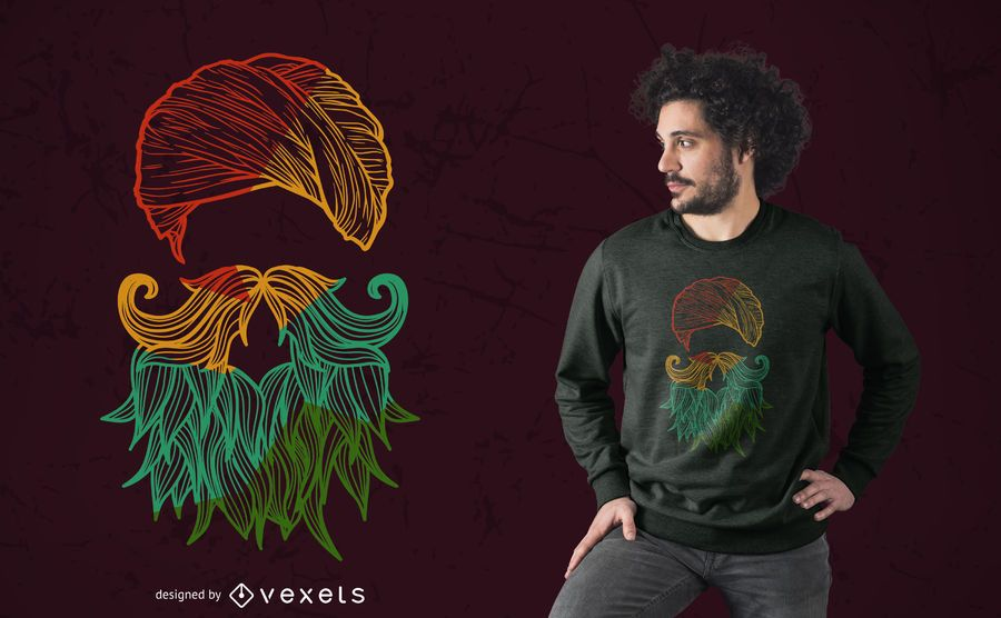 Colorful Sikh Silhouette T-shirt Design