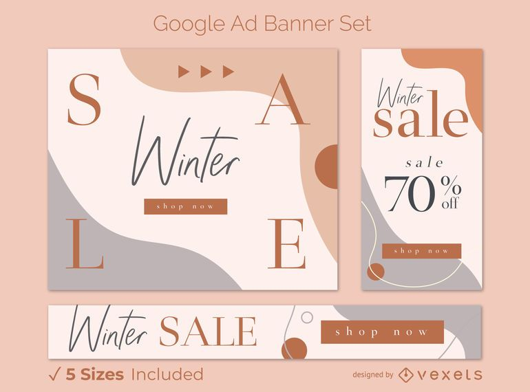Winter Sale Google Ad Banner Set