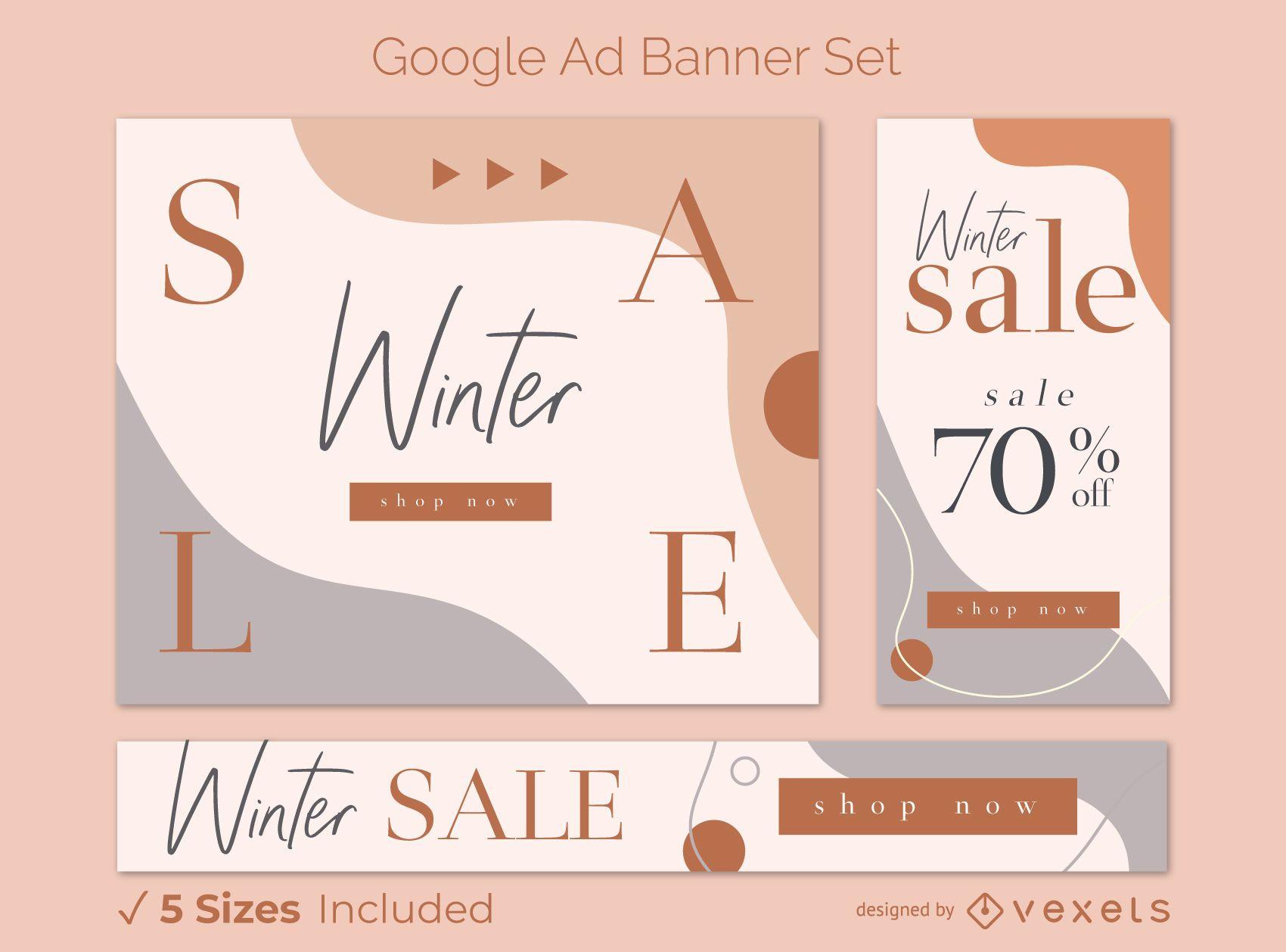 Winter Sale Google Ad Banner Set