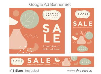Visual artist ad banner set