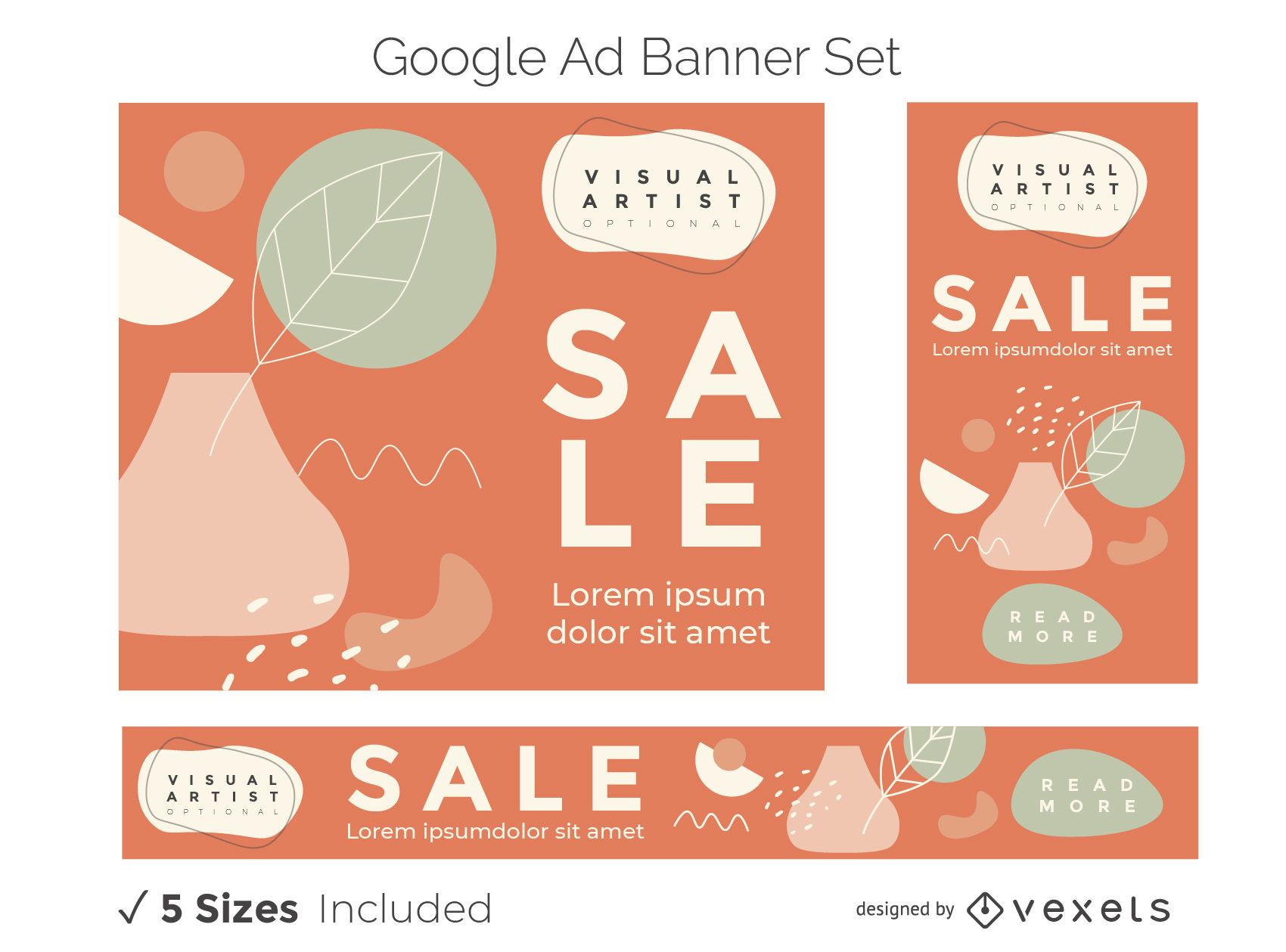 Visual artist ad banner set
