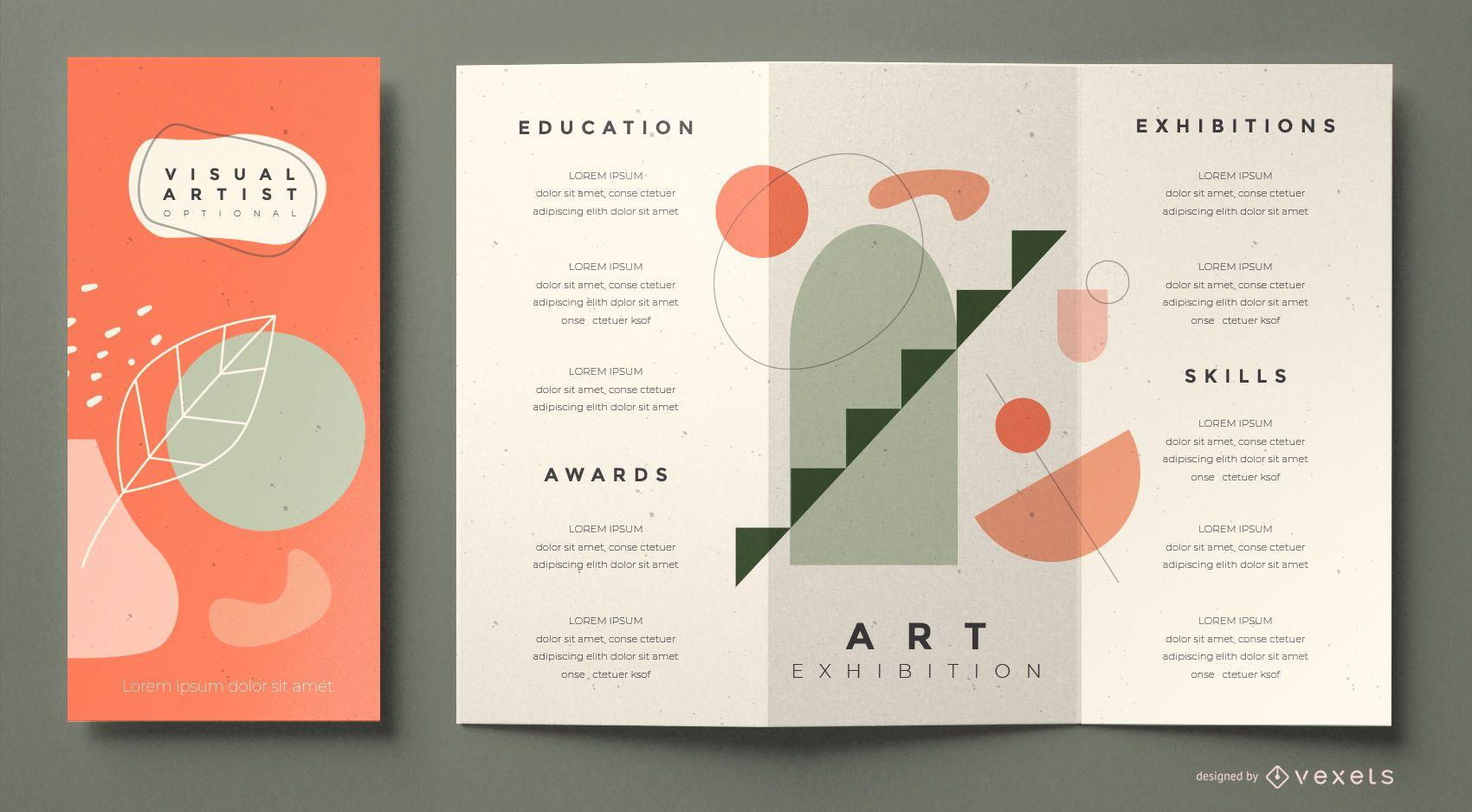 Plantilla de folleto de artista visual