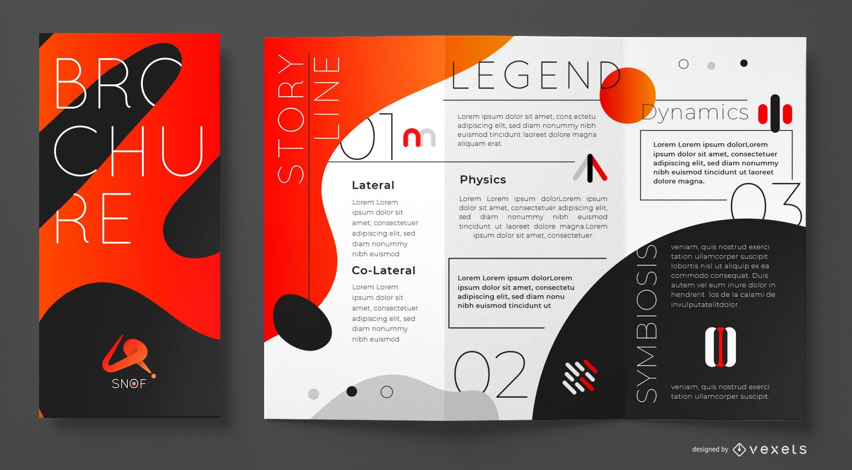 Abstract gradient brochure template
