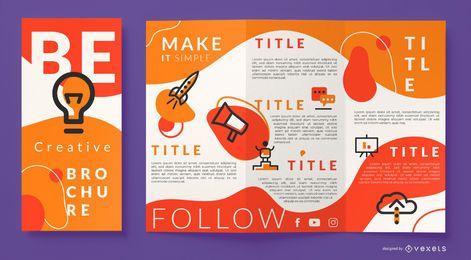 Seja um modelo de folheto criativo