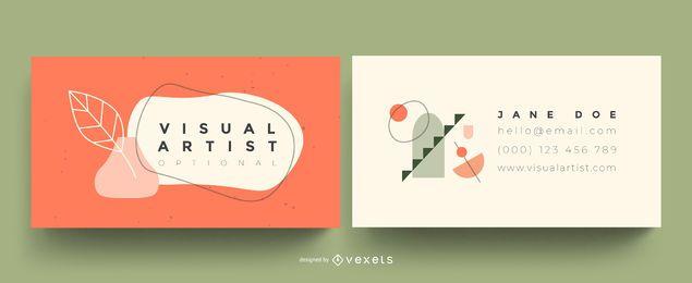 Tarjeta de visita de artista visual