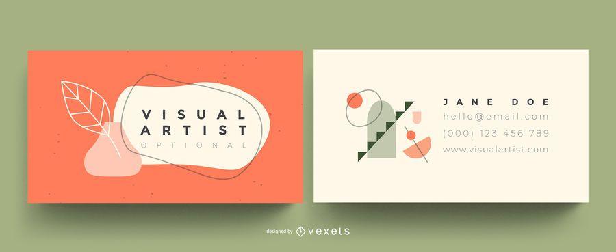 Visual artist business card