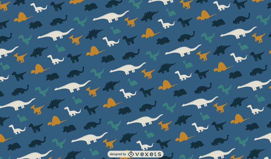 Dino silhouettes pattern design