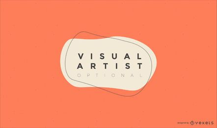 Visual artist logo design