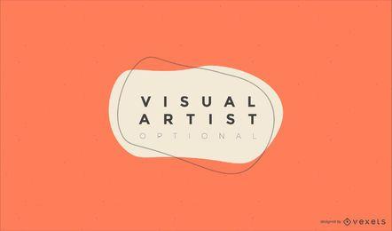 Visuelle Künstler-Logo-Design