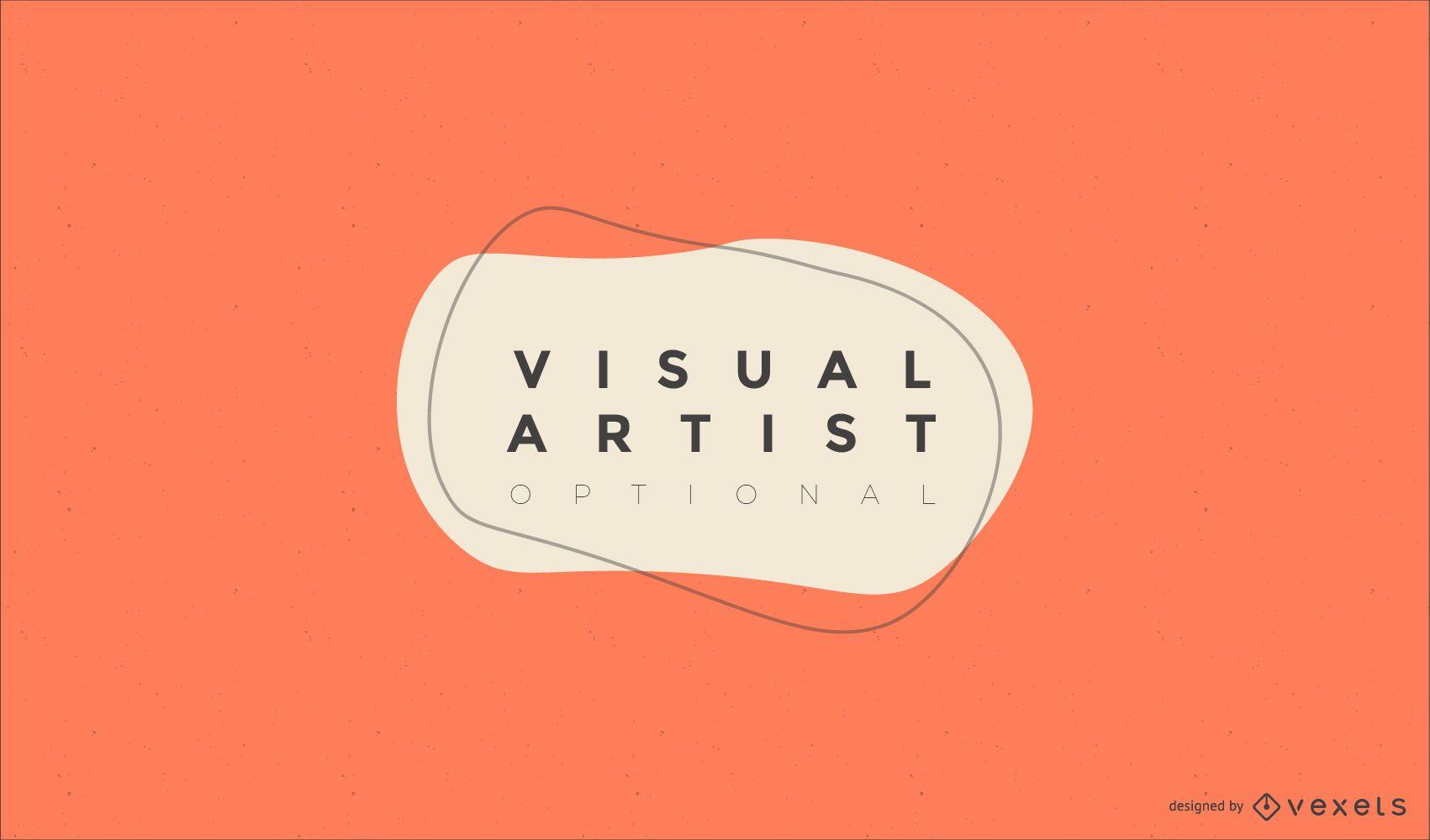 Visual artist logo design