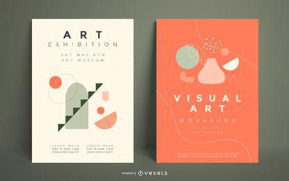 Plantilla de póster de artista visual