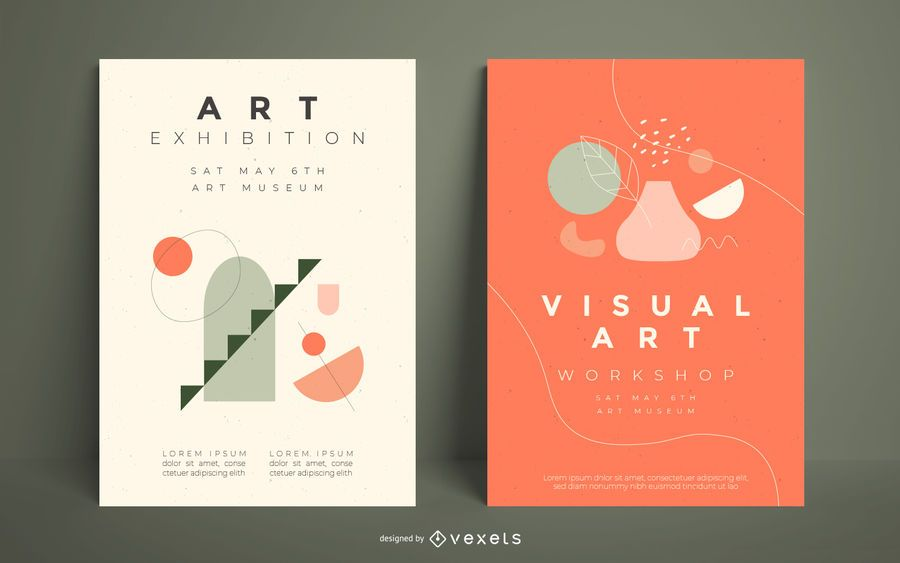 Visual artist poster template