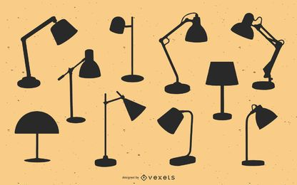 Table lamps silhouette pack