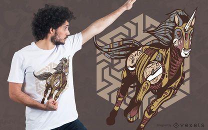 Diseño de camiseta Steampunk Unicorn