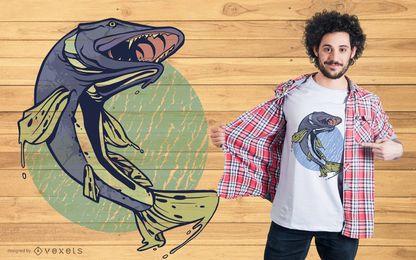 Projeto do t-shirt dos peixes de Pike