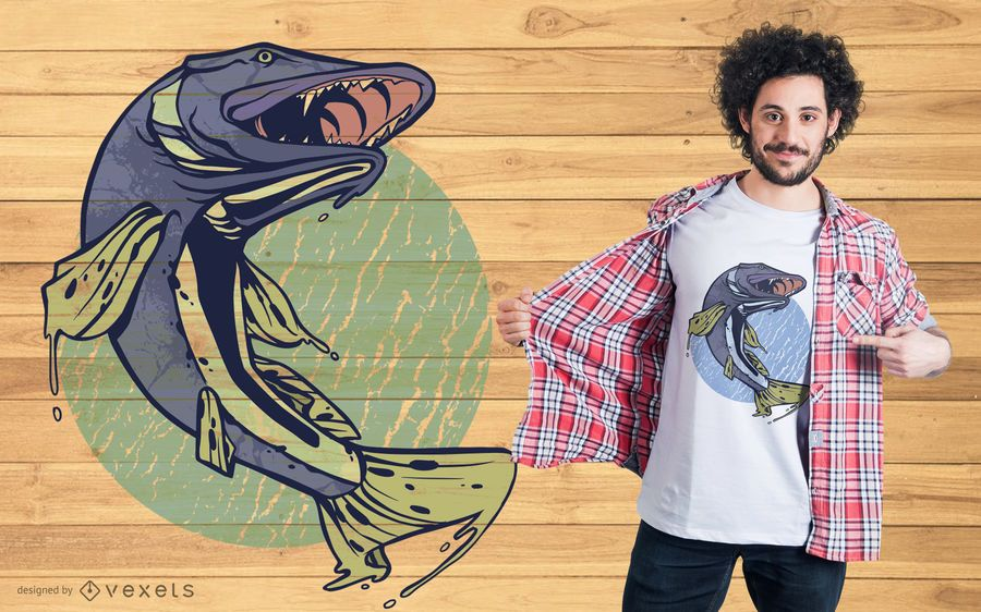 Pike Fish T-shirt Design