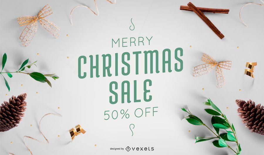 Banner de foto de venta de Navidad