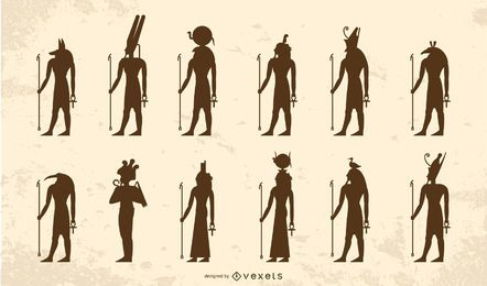 Egyptian gods silhouette pack