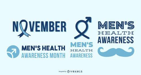 Gesundheitsbewusstseinsschriftzüge für Männer