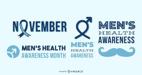 Men's health awareness letterings
