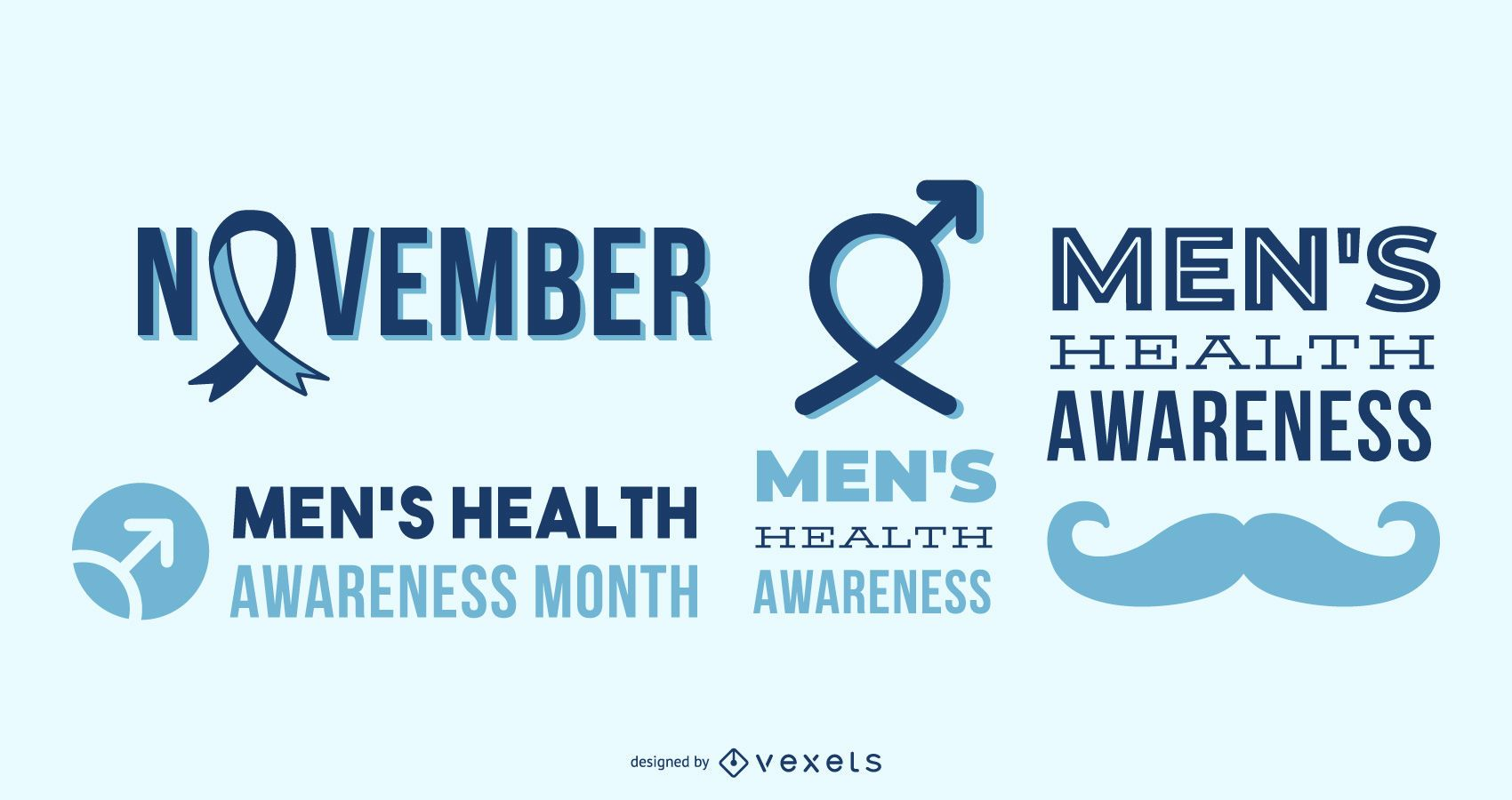 Men's health awareness letterings
