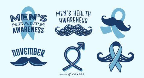 Conjunto de fita de conscientização de saúde masculina