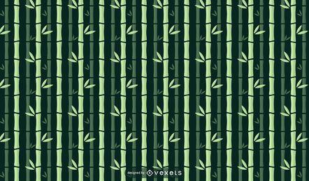Diseño de patrón plano de bambú