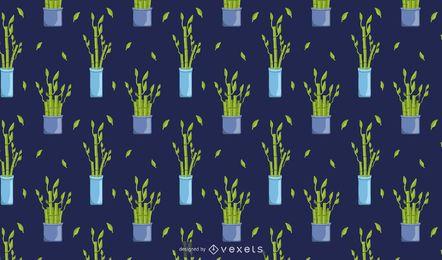 Diseño de patrón de planta de la suerte de bambú